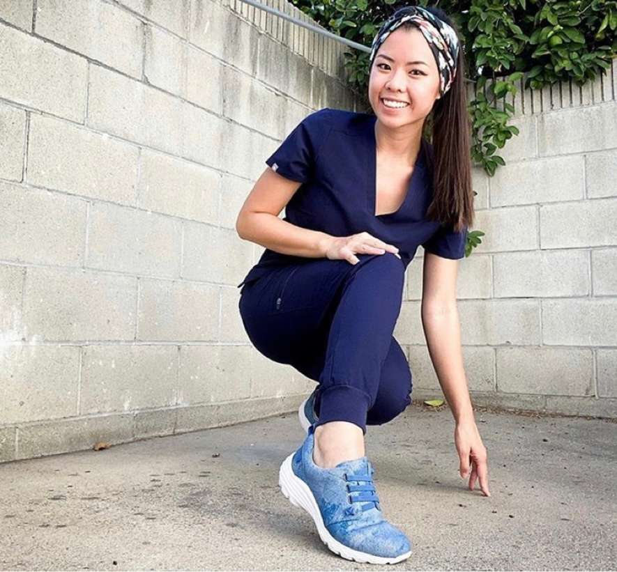 Featured style: Align Velocity in Distressed Denim